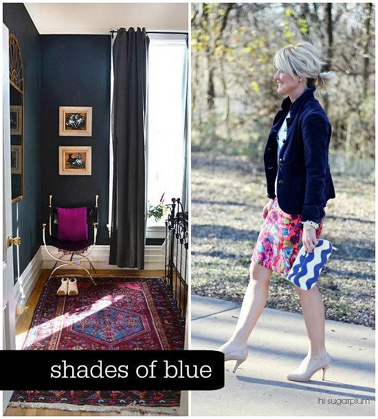 Hi Sugarplum | {Outfit Inspiration} Shades of Blue
