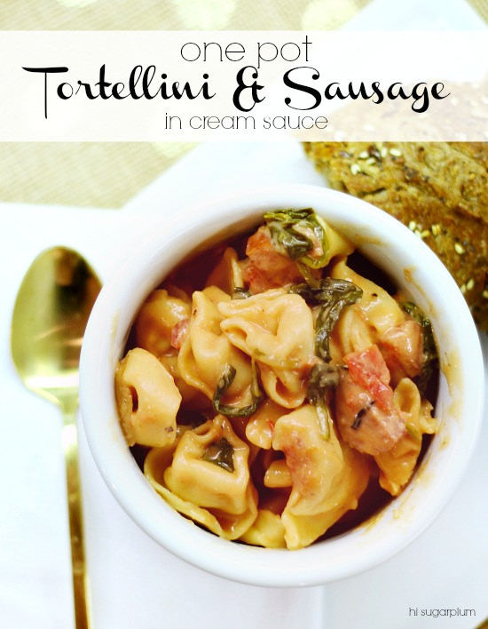 Hi Sugarplum | One Pot Tortellini & Sausage