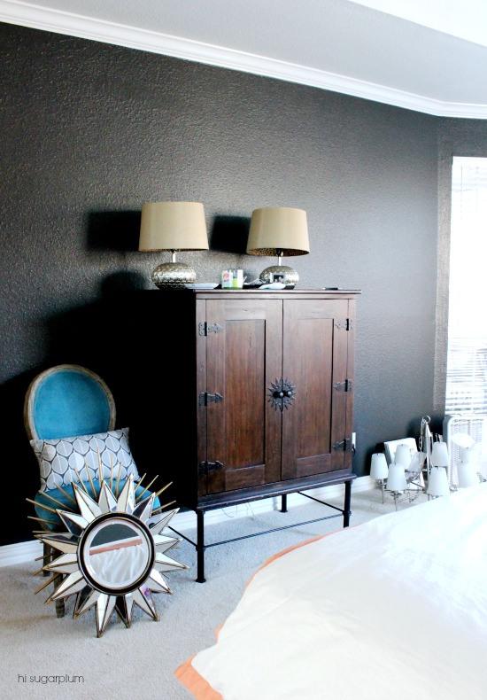 Hi Sugarplum   Master Bedroom Dark Walls