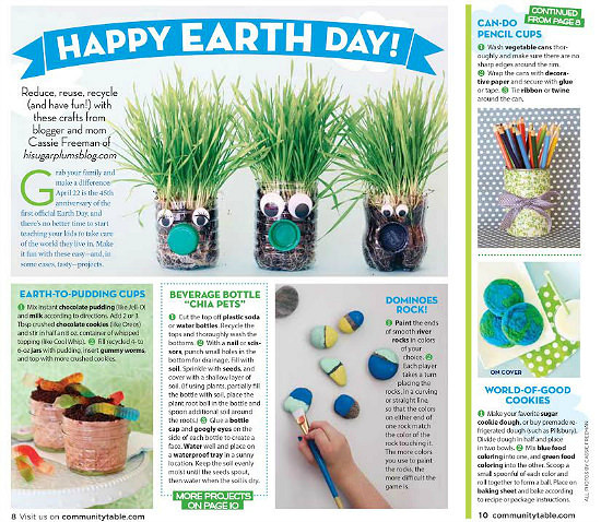 Hi Sugarplum | Simple Earth Day projects