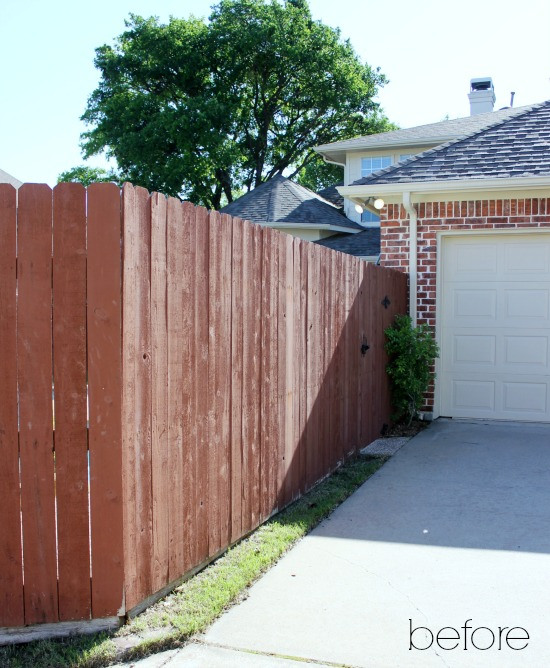 Hi Sugarplum | Backyard Fence Before