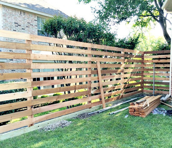 white horizontal wood fence. hi sugarplum horizontal fence white wood