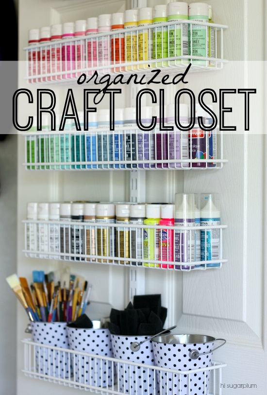 craft closet storage ideas the craft closet of my dreams reveal hi sugarplum 3760