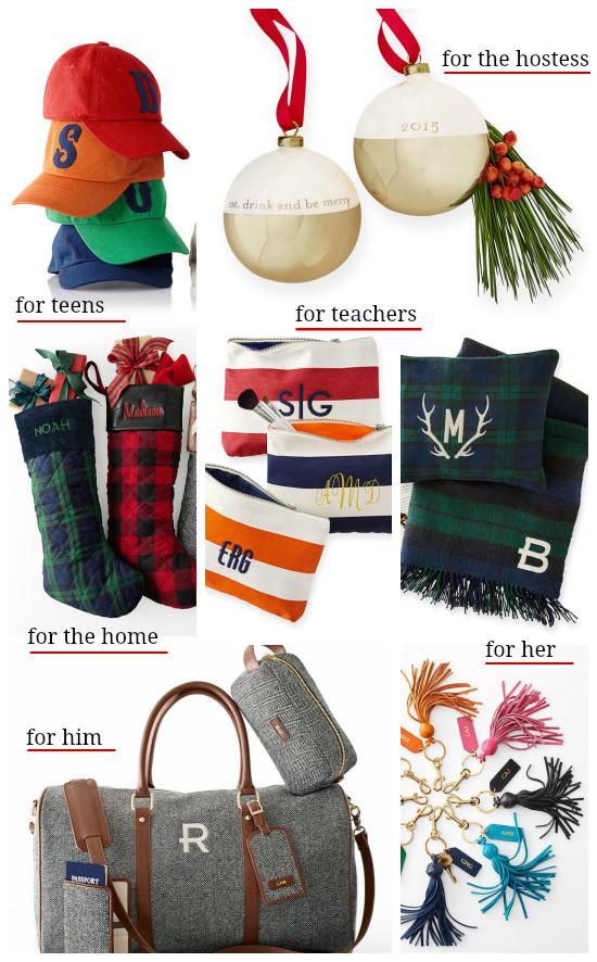 Hi Sugarplum | Monogrammed Gift Guide