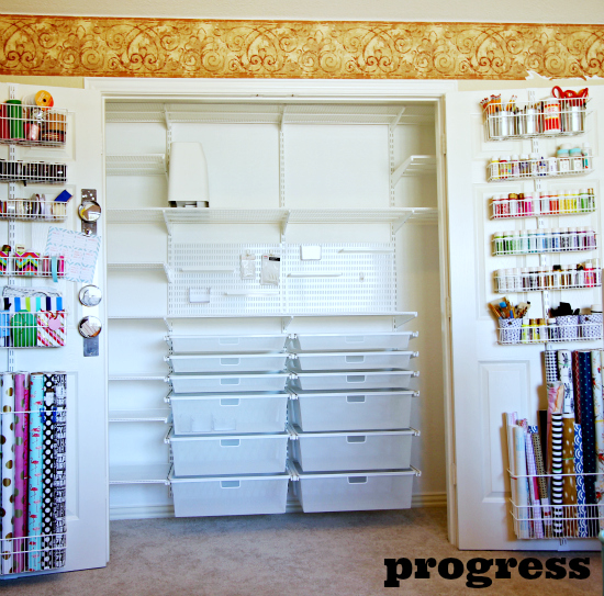 Charmant Hi Sugarplum | Elfa Office/Craft Closet