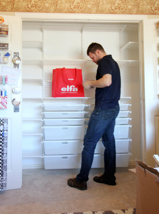 {Office/Craft Closet} Elfa Installed!