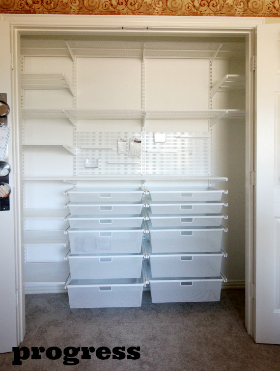 hi sugarplum elfa officecraft closet