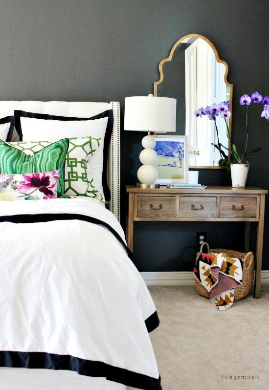 Dark-Gray Master Bedroom