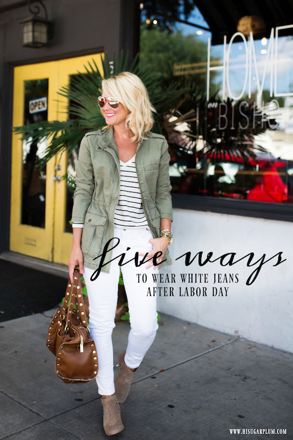 9de36136ca34 Every day this week I ll style a new outfit around my favorite white jeans