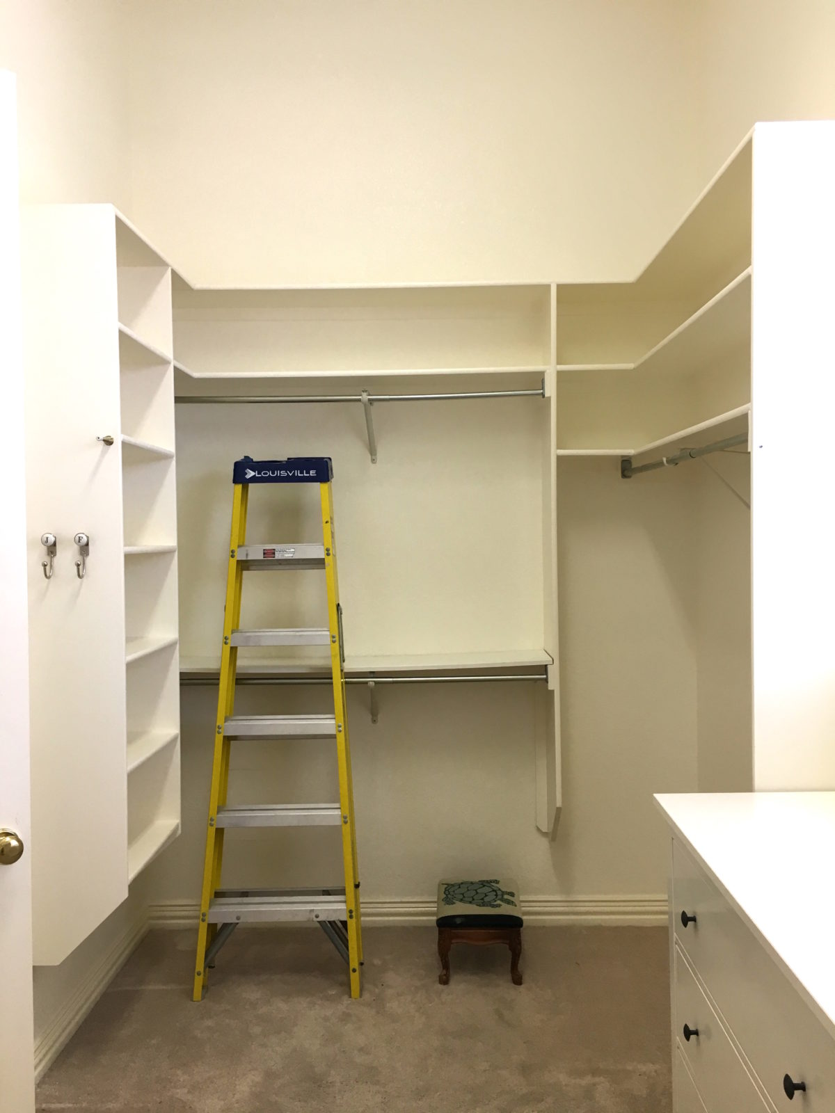 Master Closet Makeover | Progress