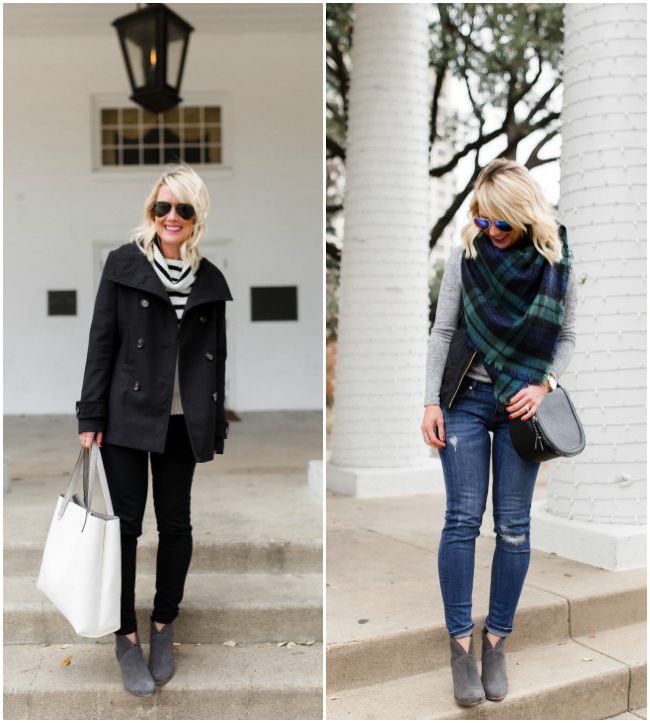 Gray Booties | 2 Ways