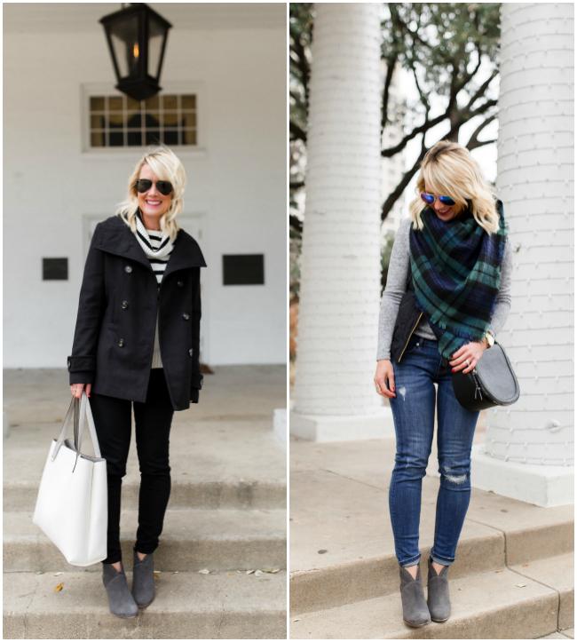 Gray Booties | 2 Ways | hi Sugarplum!