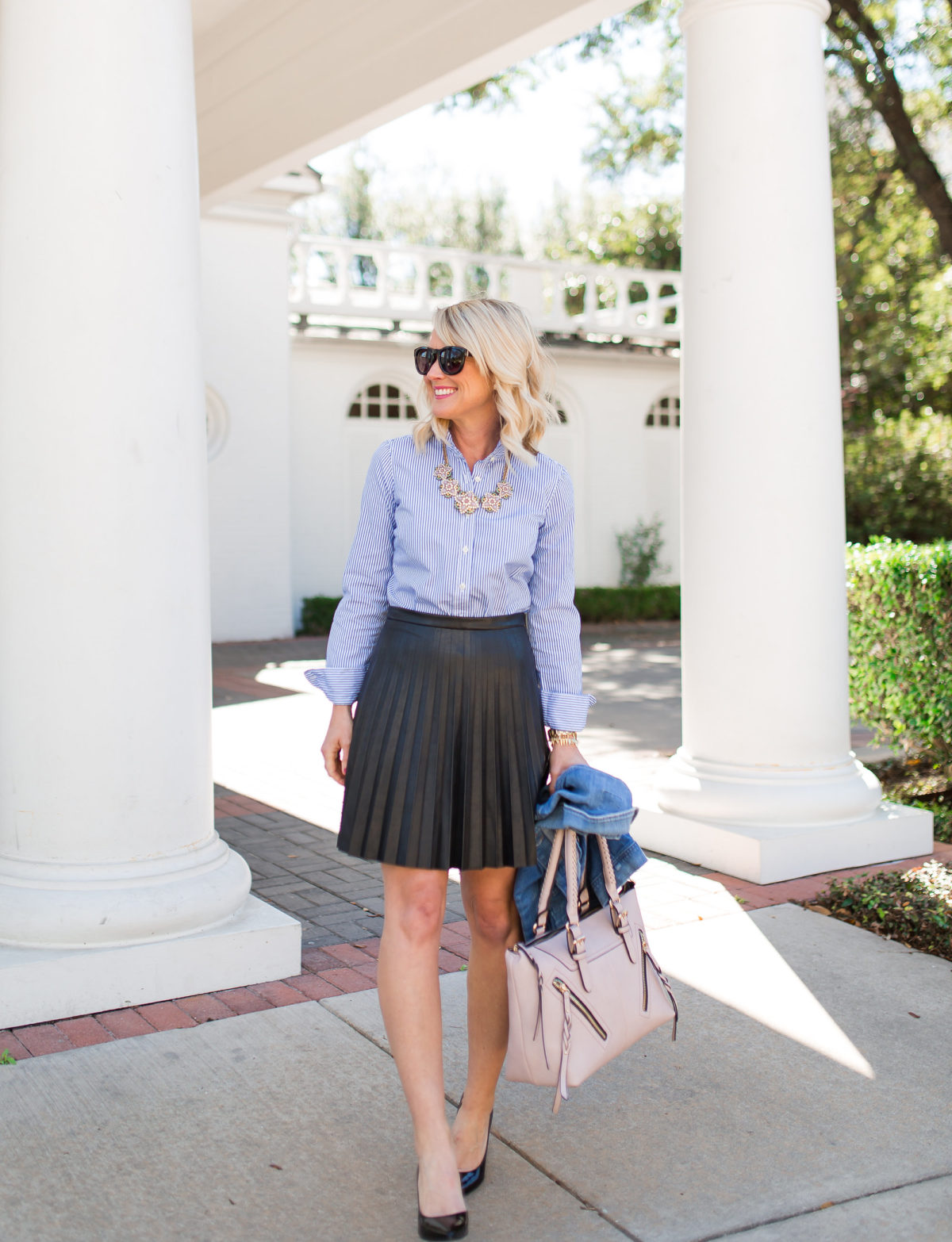 Early Spring | Preppy Pleats & Stripes