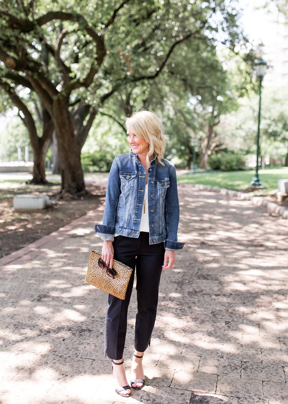 Jean jacket black white hi sugarplum bloglovin Hi sugarplum