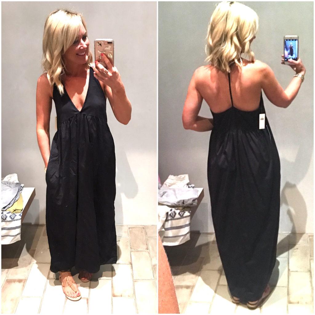 anthropology t-back dress