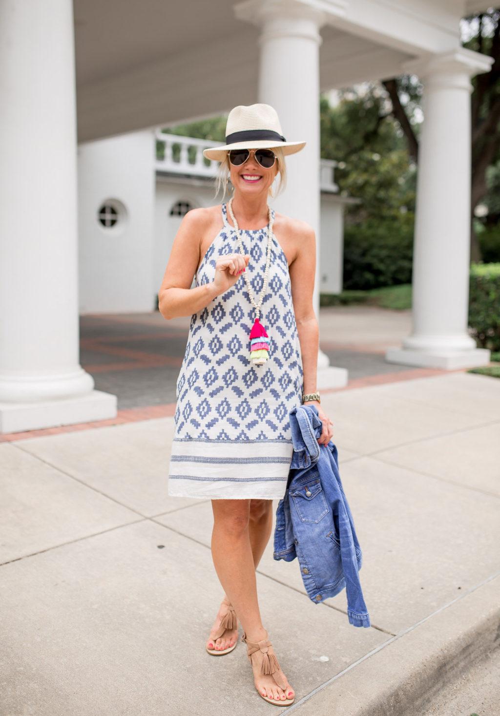 sundress straw hat summer style