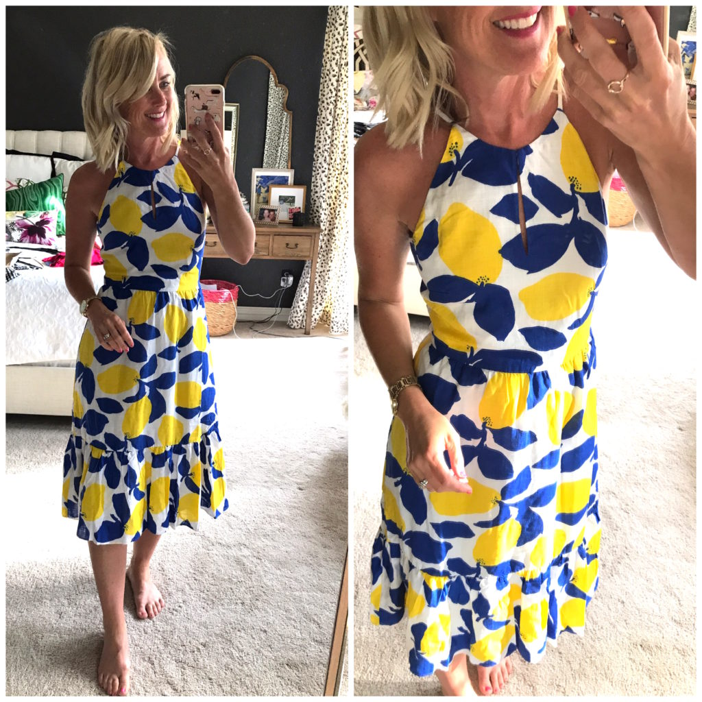loft lemon dress