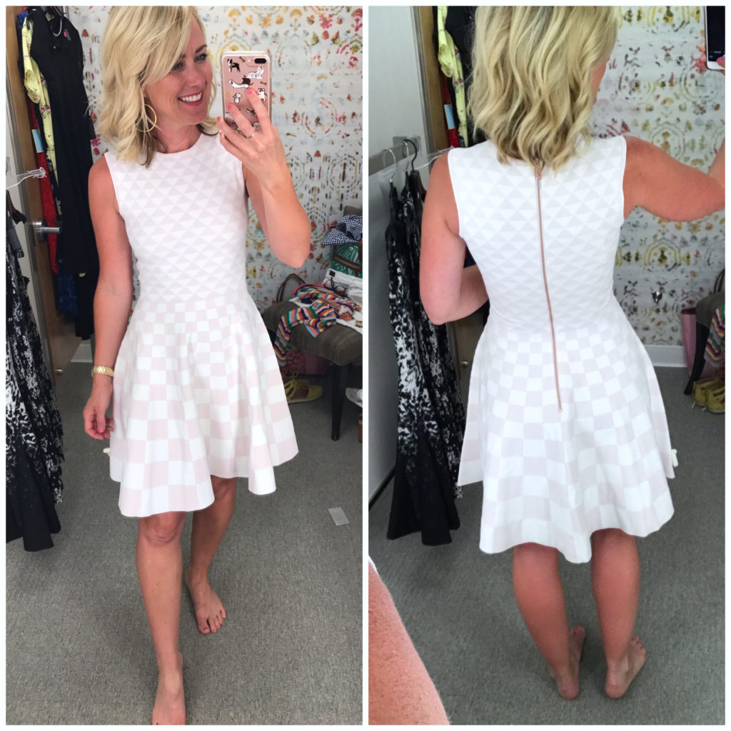 nordstrom ted baker check dress