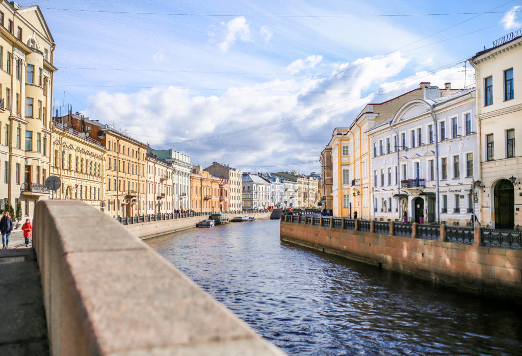 canals of St.Petersburg Russia