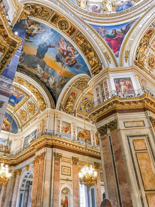 ornate ceiling St.Petersburg Russia