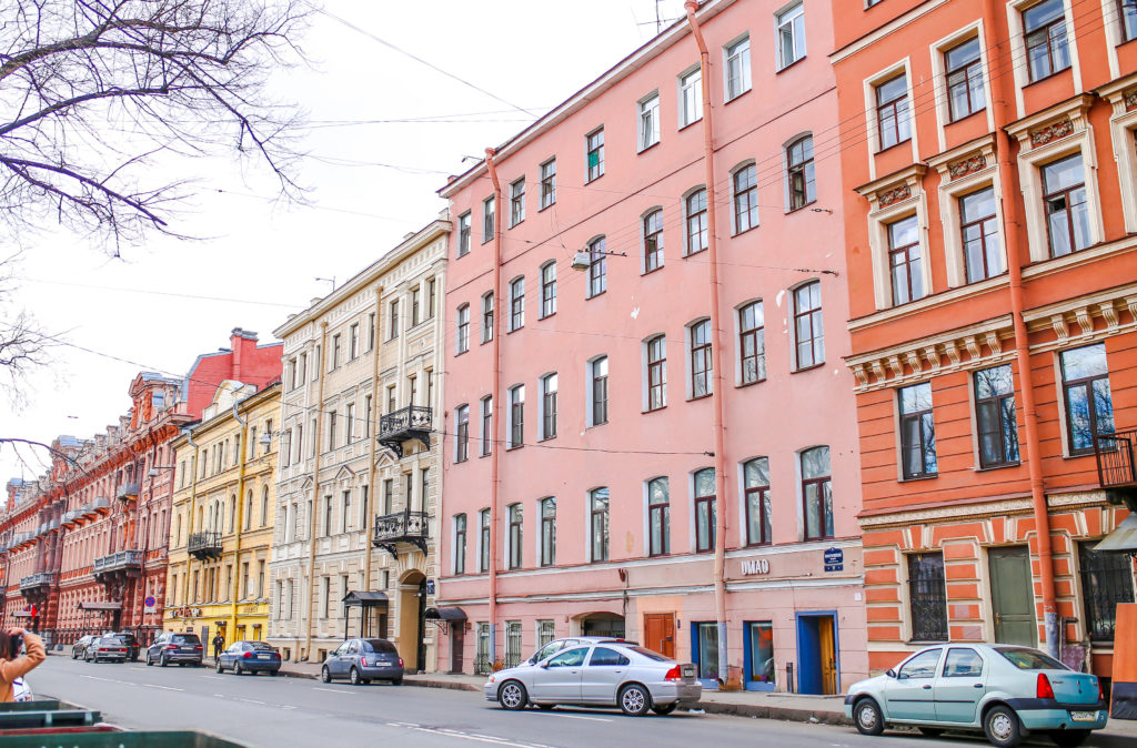 streets of St.Petersburg Russia