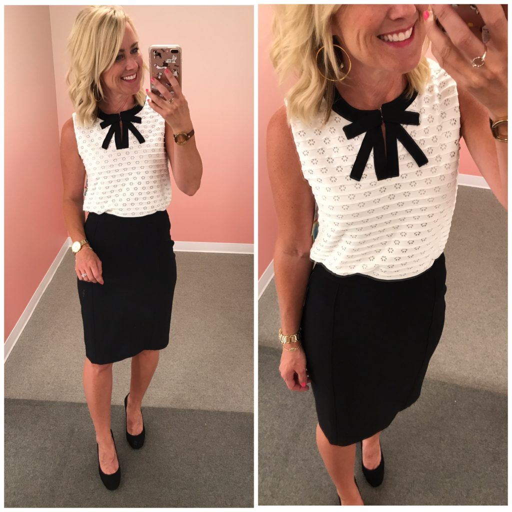 nordstrom anniversary sale cece bow top pencil skirt