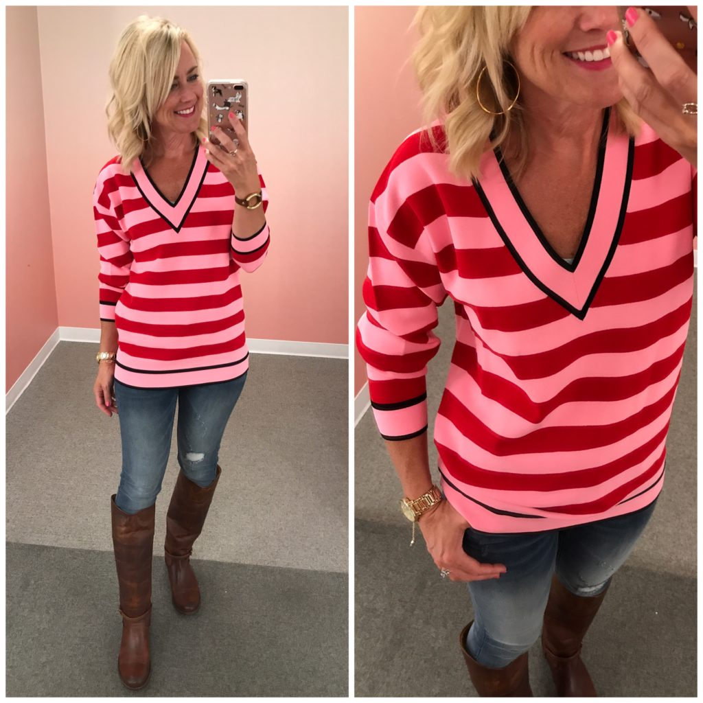 nordstrom anniversary sale dvf striped sweater