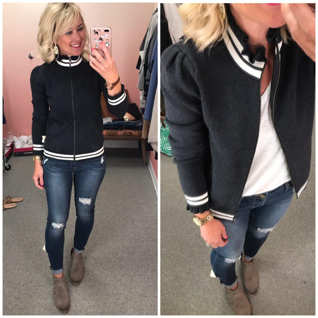 nordstrom anniversary sale ruffle track jacket