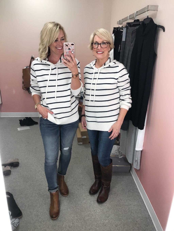 nordstrom anniversary sale striped cashmere pullover