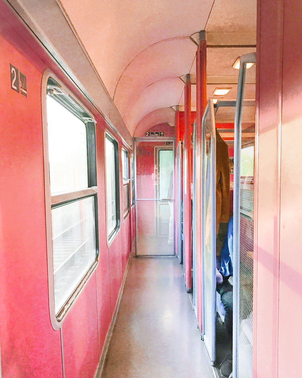 pink train car