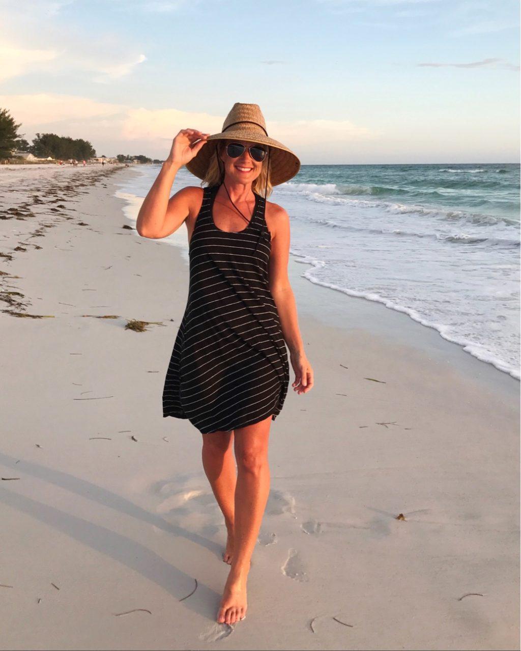 loft striped swing dress beach coverup