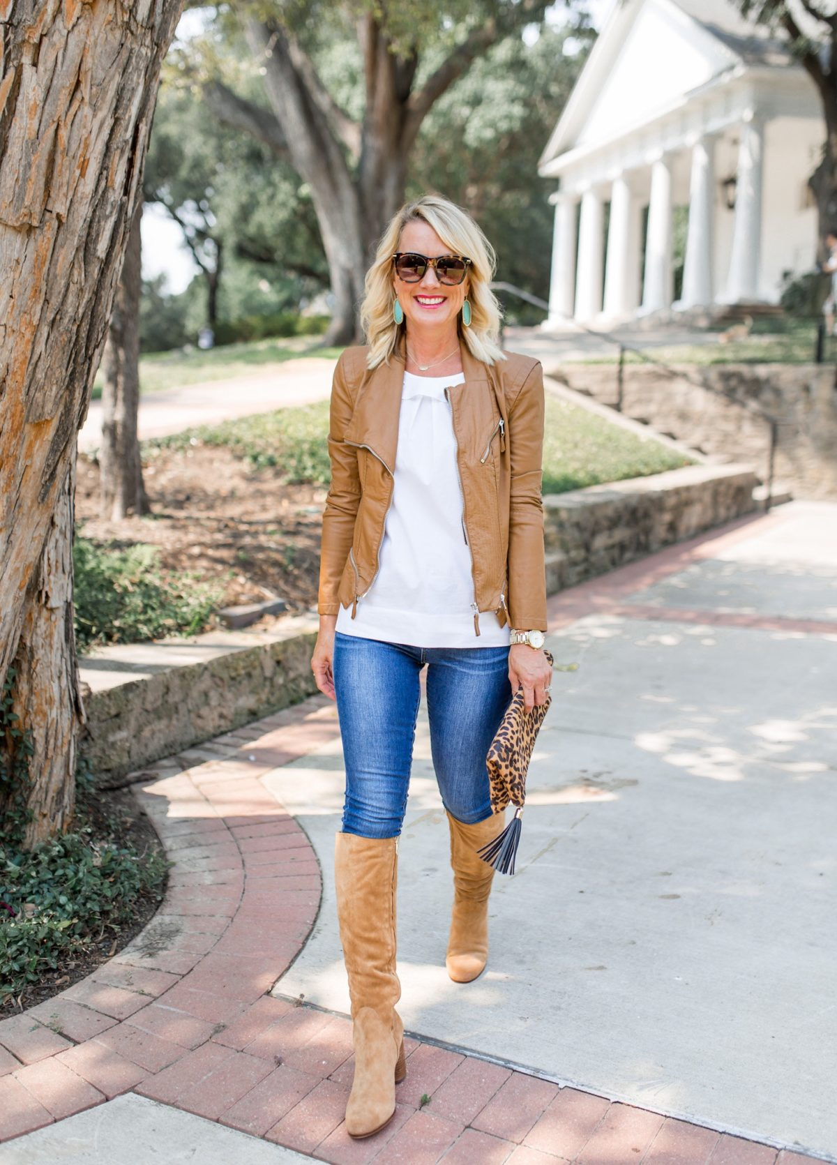 Fall Transition | Knee Boots & Moto Jacket