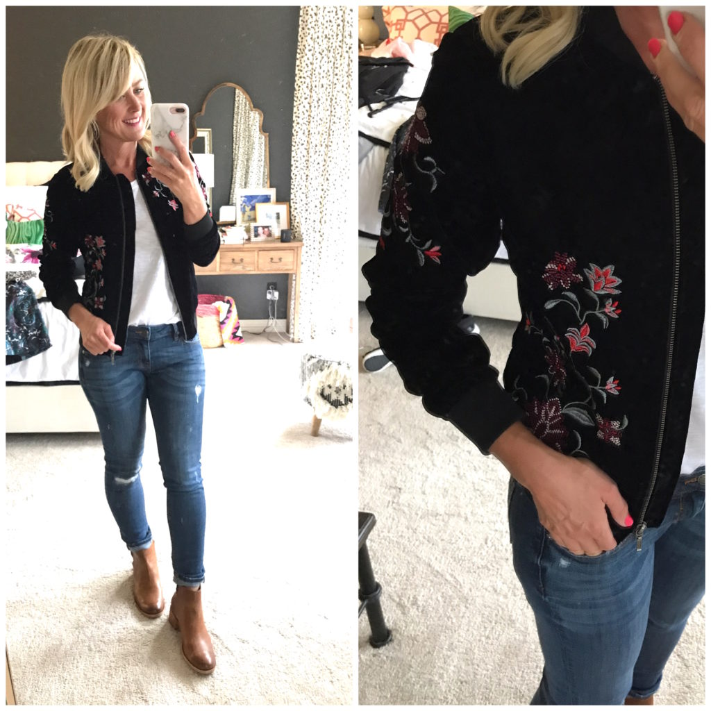 jcpenney embroidered jacket