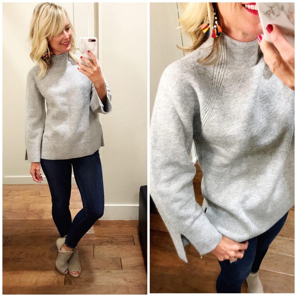 loft funnel neck sweater
