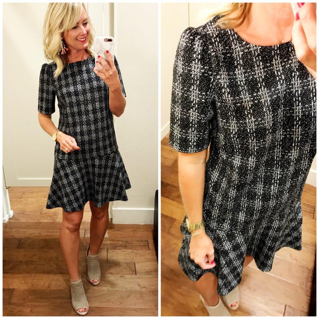 loft tweed drop waist dress
