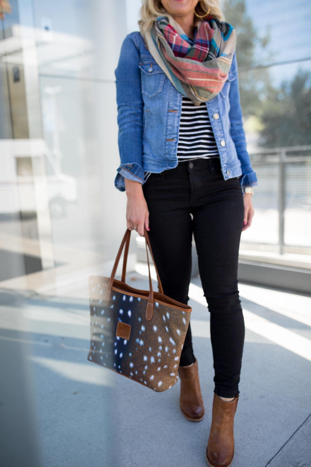 Black Jeans | Stripes & Plaid