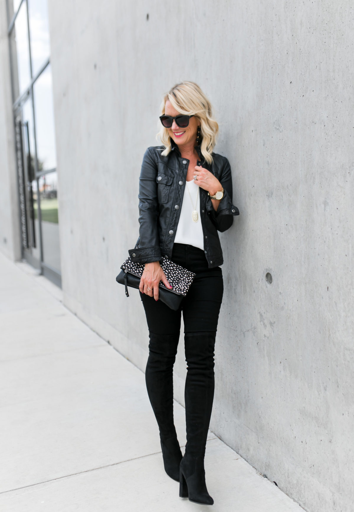Black Jeans | OTK Boots & Moto Jacket