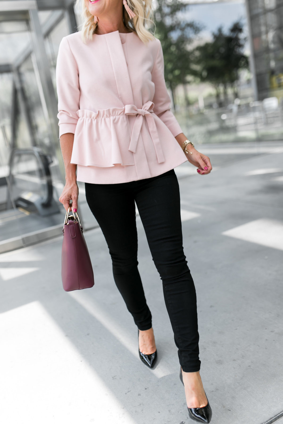 Black Jeans | Blush & Burgundy