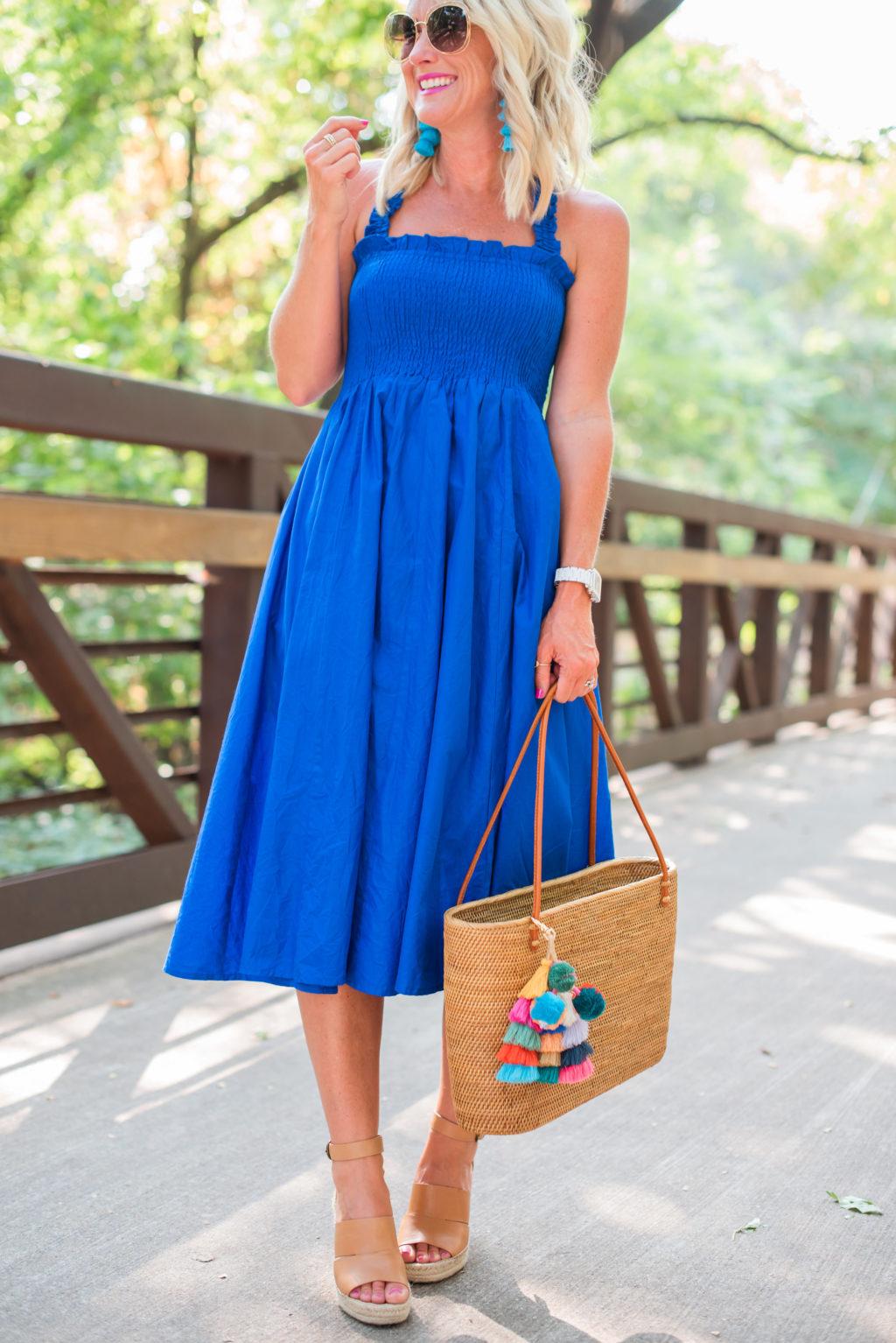 cobalt blue amazon sundress
