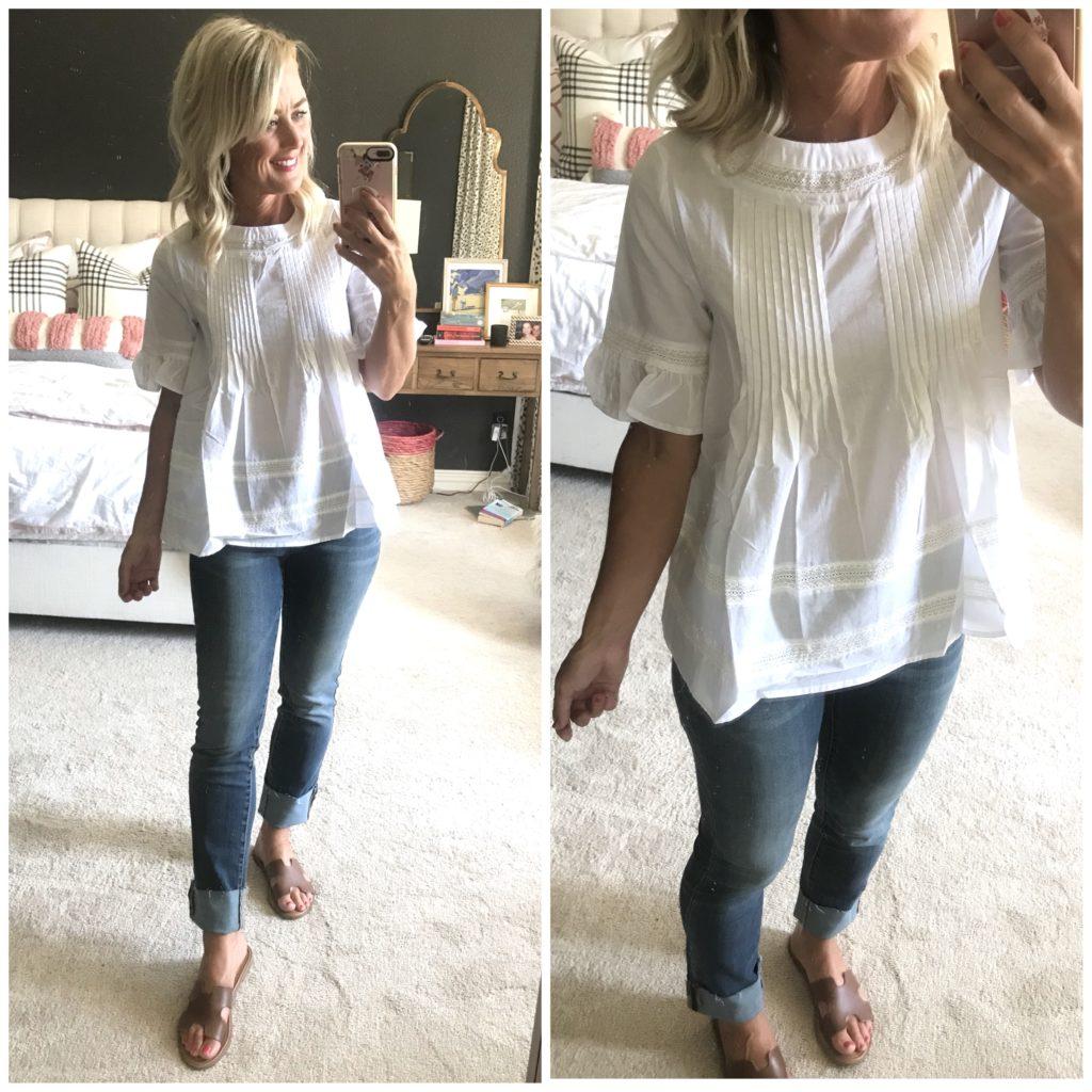 amazon cotton poplin blouse